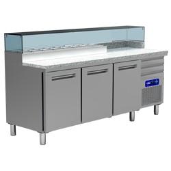 Table frigo pizza 600x400 3 portes