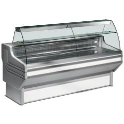 Comptoir réfrigéré vitre bombée L2000mm Froid Statique +4°/+6°C
