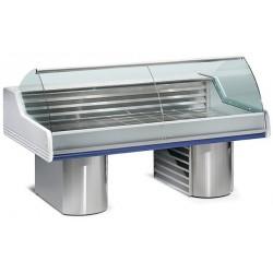Comptoir-vitrine réfrigéré pour poissonnerie L2500mm