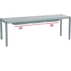 Rampe chauffante 1 niveau - L2000xP350xH400 mm