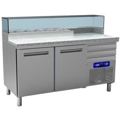 Table frigo pizza 600x400 2 portes