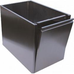 Bac à déchet inox à monter sur table Prof.600mm