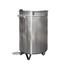 Poubelle inox 95 litres à pédale