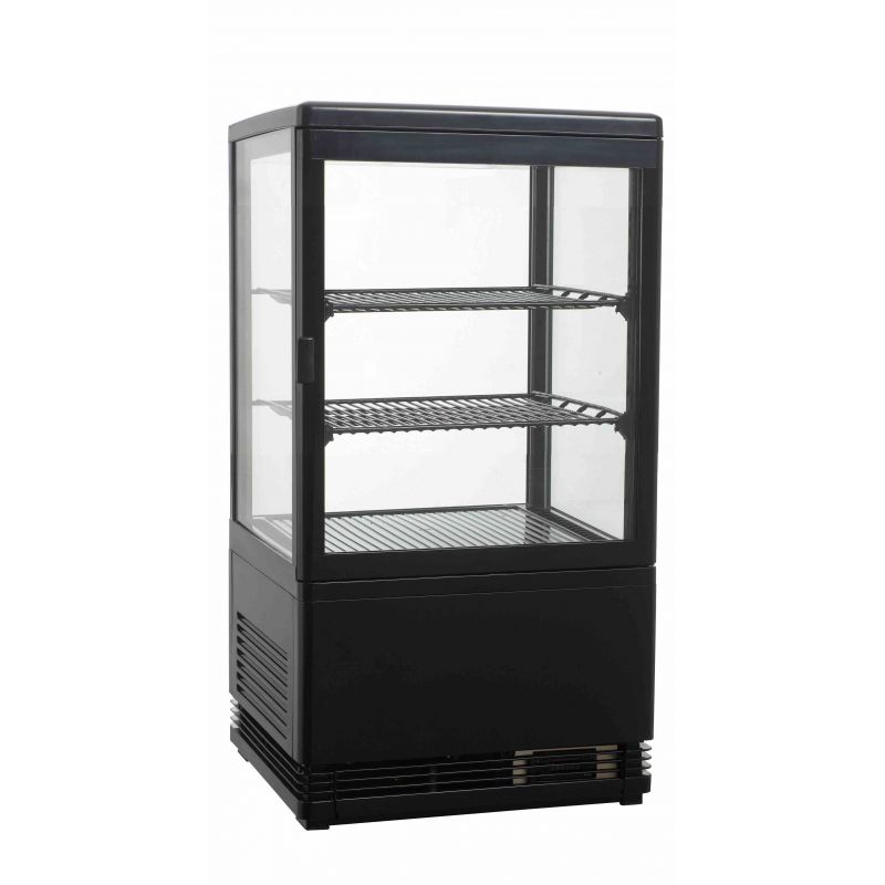 vitrine refrigeree a poser noire 58 litres achat vitrines refrigeree a poser. Black Bedroom Furniture Sets. Home Design Ideas