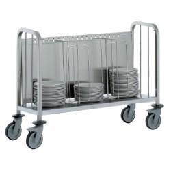 Chariot porte assiettes - pour 200 assiettes