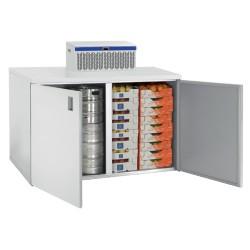 Coffre de stockage 1400L 2 portes avec unité frigorifique