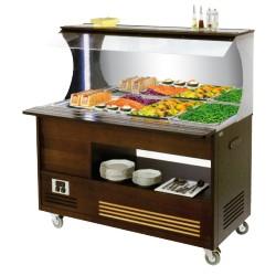 Buffet mural réfrigéré mobile - 4 x GN1/1