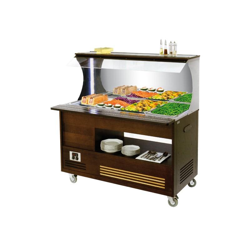 buffet mural chauffant mobile bain marie 4xgn1 1 achat. Black Bedroom Furniture Sets. Home Design Ideas