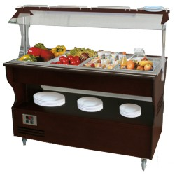 Buffet central réfrigéré mobile - 4xGN1/1