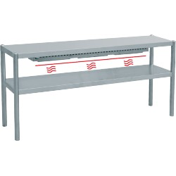 Rampe chauffante 2 niveaux - L1000xP350xH700 mm