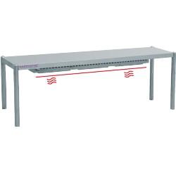 Rampe chauffante 1 niveau - L1600xP350xH400 mm
