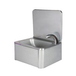 Lave-mains inox avec robinet électronique